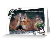 Seasonal Squirrels Greeting Card