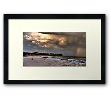Stormy Weather - Warriewood Beach - The HDR Series Framed Print