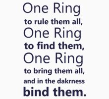 One Ring to rule them all by ParkLeeya