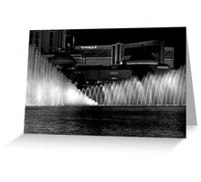 Showtime! The Bellagio Water Fountain Greeting Card