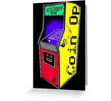 COIN OP history box Greeting Card