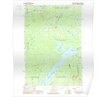 Maine USGS Historical Map Indian Pond North 460493 1988 24000 Poster