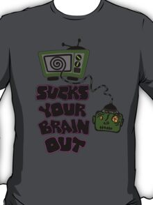 t.v. sucks your brain out mallowcolortwo T-Shirt
