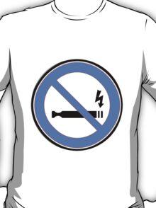 Blue 'No Vaping' sticker T-Shirt