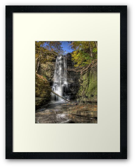 State Park HDR Series - Matthiessen State Park - Lake Falls by Joe Thill