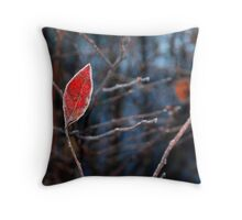 Frosted Red Flame... Throw Pillow