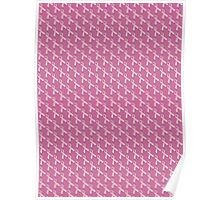 Pink Ribbon Tiled Pattern Poster