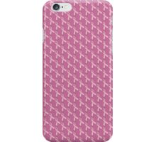 Pink Ribbon Tiled Pattern iPhone Case/Skin