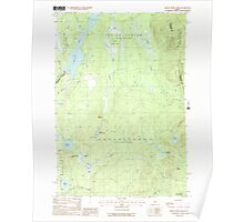 Maine USGS Historical Map Indian Pond South 105227 1988 24000 Poster