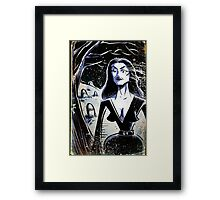 Vampira Plan 9 From Outer Space Outerspace Ed Wood B-movie Bmovie Cult Classic film movie schlock bad movie female girl elvira black hair mistress of the dark horror host sci fi science fiction Framed Print
