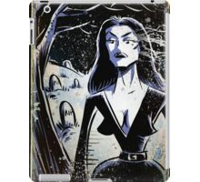 Vampira Plan 9 From Outer Space Outerspace Ed Wood B-movie Bmovie Cult Classic film movie schlock bad movie female girl elvira black hair mistress of the dark horror host sci fi science fiction iPad Case/Skin