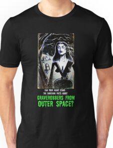 Vampira Plan 9 From Outer Space Outerspace Ed Wood B-movie Bmovie Cult Classic film movie schlock bad movie female girl elvira black hair mistress of the dark horror host sci fi science fiction Unisex T-Shirt