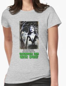 Vampira Plan 9 From Outer Space Outerspace Ed Wood B-movie Bmovie Cult Classic film movie schlock bad movie female girl elvira black hair mistress of the dark horror host sci fi science fiction Womens Fitted T-Shirt