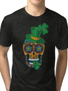 Irish Sugar Skull Tri-blend T-Shirt