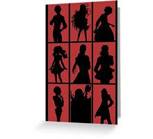 Tales of Xillia 2 - Character Roster (Red) Greeting Card