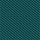 Teal Ribbon Tiled Pattern by Mythos57