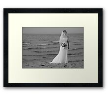 Alicia Wedding Beach Shoot Framed Print