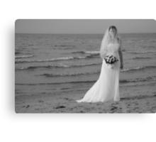 Alicia Wedding Beach Shoot Canvas Print