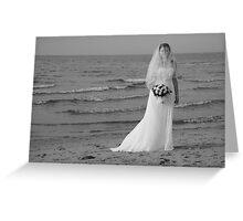 Alicia Wedding Beach Shoot Greeting Card