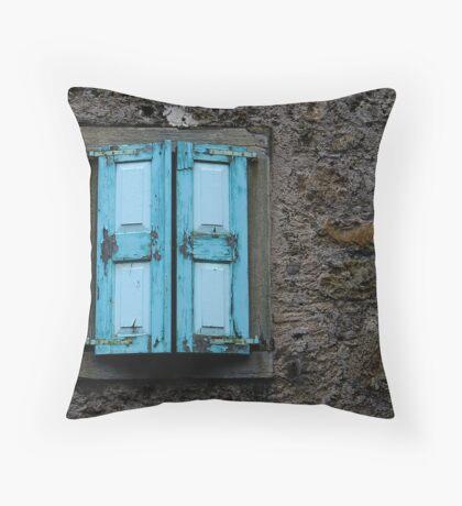 THE BLUE SHUTTERS Throw Pillow