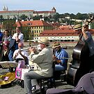 Ragtime on the Charles Bridge, Prague by artgoddess