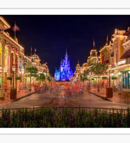Nighttime On Main Street USA Sticker
