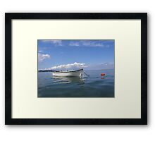 Floating In Blue & White Framed Print