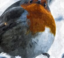 Artwork - Robin in the Snow Sticker
