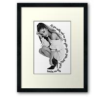 Love Harder Framed Print