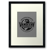 Vandelay Industries (Black) Framed Print