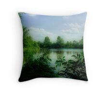 WILD BIRD POND Throw Pillow