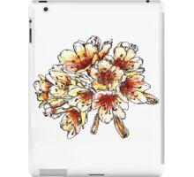 peach and orange flowers iPad Case/Skin