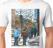 CANADIAN WINTER CITY SCENE DOWNTOWN MONTREAL Unisex T-Shirt