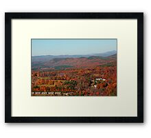October Sunday in New Hampshire Framed Print