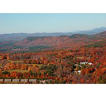 October Sunday in New Hampshire Photographic Print
