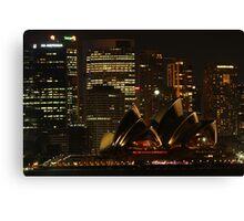 Sydney night Canvas Print