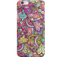 Hand drawn abstract background ornament color pattern iPhone Case/Skin