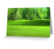 Golf Green Greeting Card
