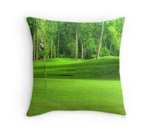 Golf Green Throw Pillow
