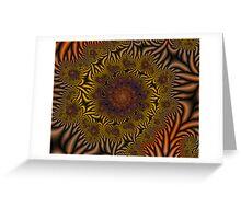 Floral Vortex Greeting Card
