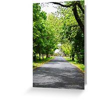 Hill End Country Road Greeting Card