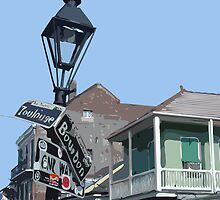 Bourbon Street, New Orleans by Celeste Brignac