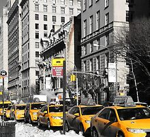 New York Yellow Taxi's by courdelle