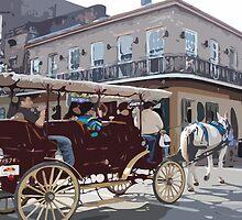 Carriage Ride, New Orleans by Celeste Brignac