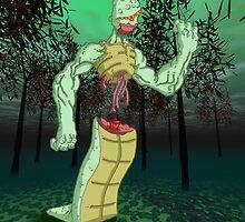 zombie serpent: jungle scene by kangarookid