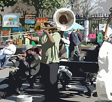 Street Musicians, New Orleans by Celeste Brignac