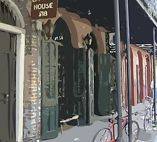 A Bicycle Rests in New Orleans by Celeste Brignac