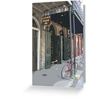 A Bicycle Rests in New Orleans Greeting Card