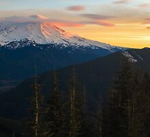 Mount Rainier Morning by lkamansky