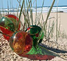 Three Christmas Baubles Vector Art by Celeste Brignac